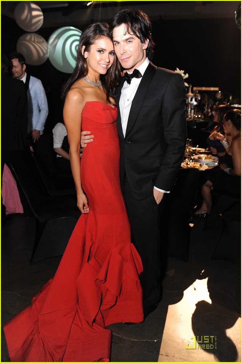 nina dobrev ian somerhalder emmy ball 01