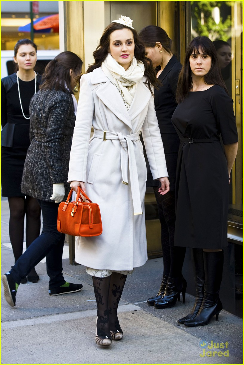 leighton meester wool coat 01