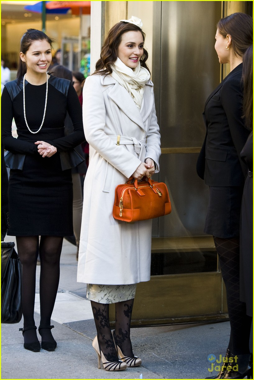 leighton meester wool coat 11