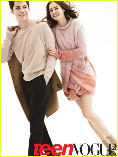 logan lerman coats kiss 04