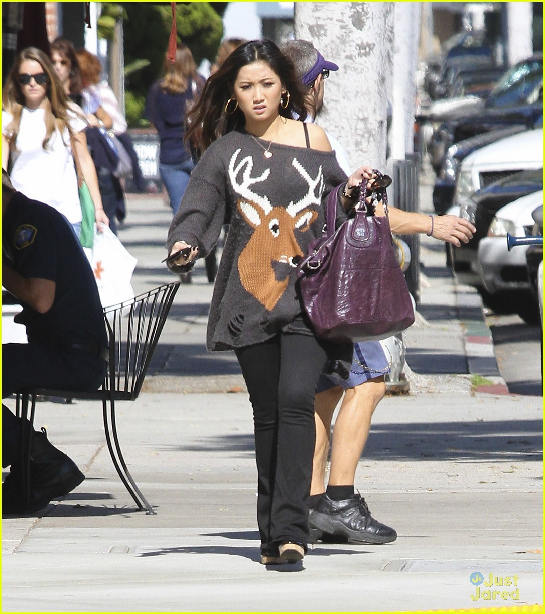brenda song deer sweater 01