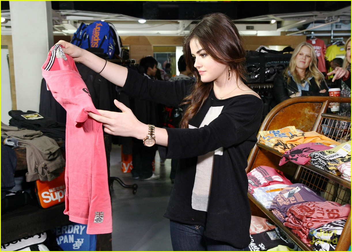 lucy hale superdry shopper 15