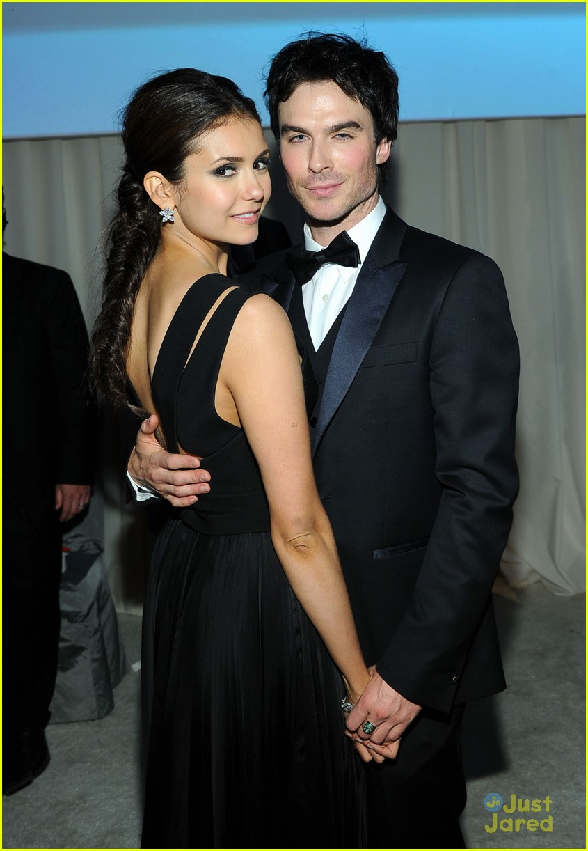 nina dobrev ejaf oscar party 02