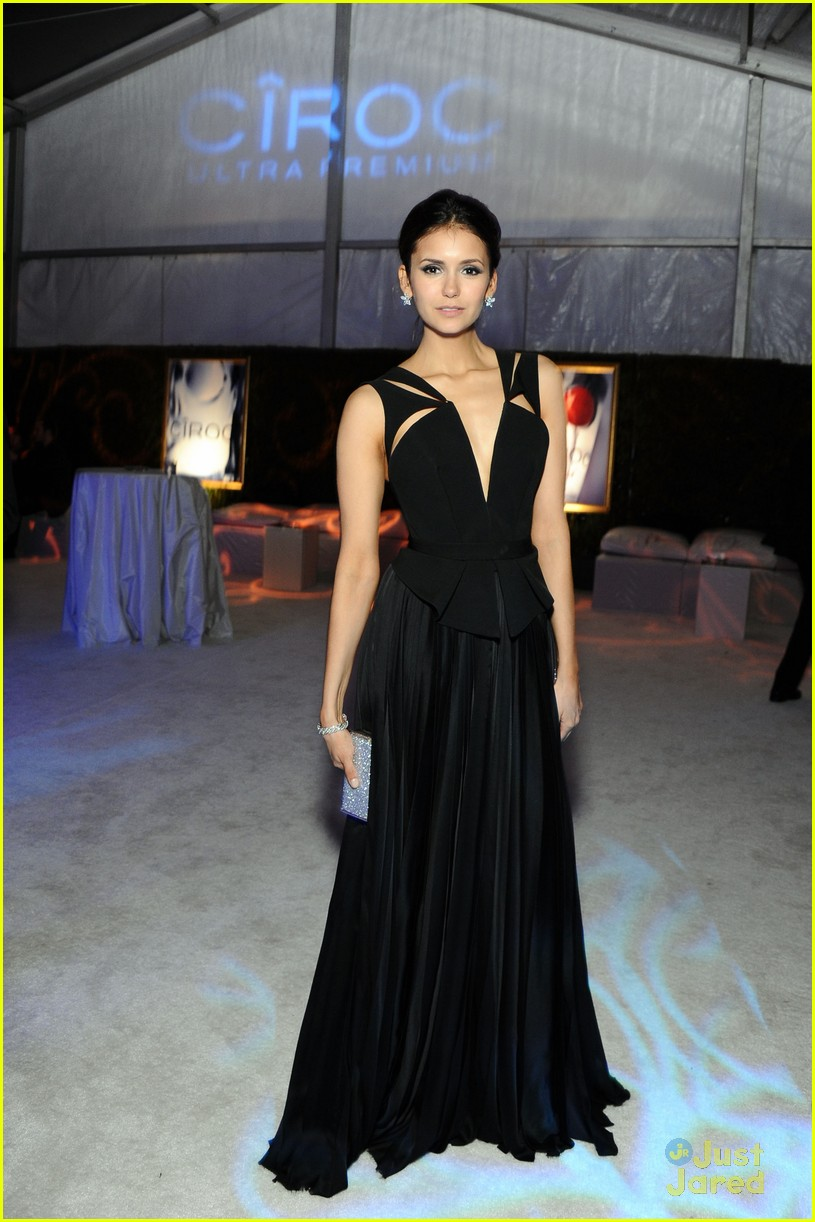 nina dobrev ejaf oscar party 10