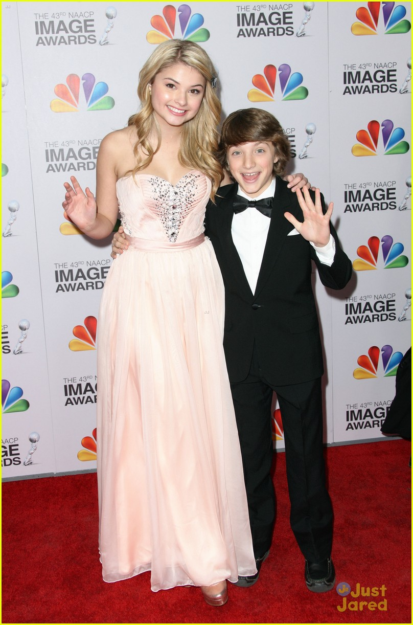 stefanie scott jake short image awards 03