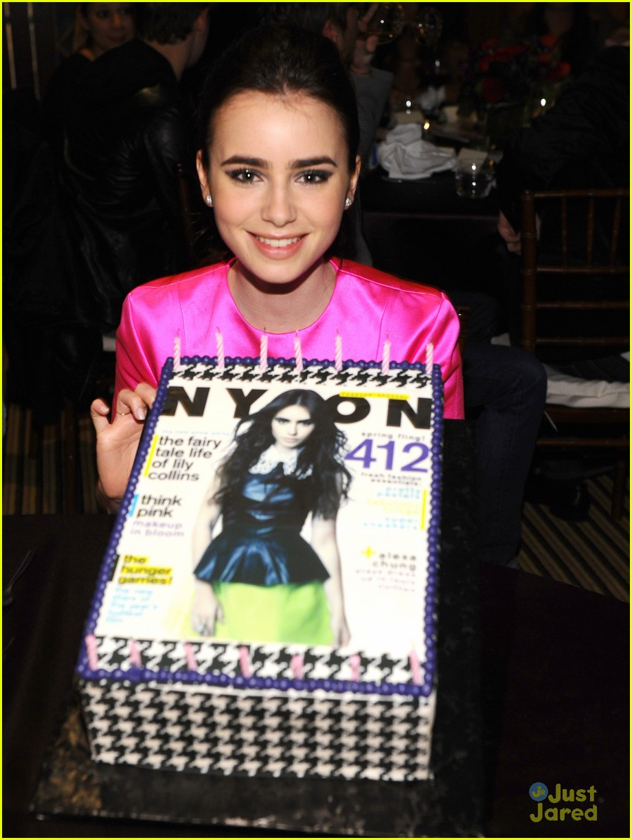 lily collins nylon party 07