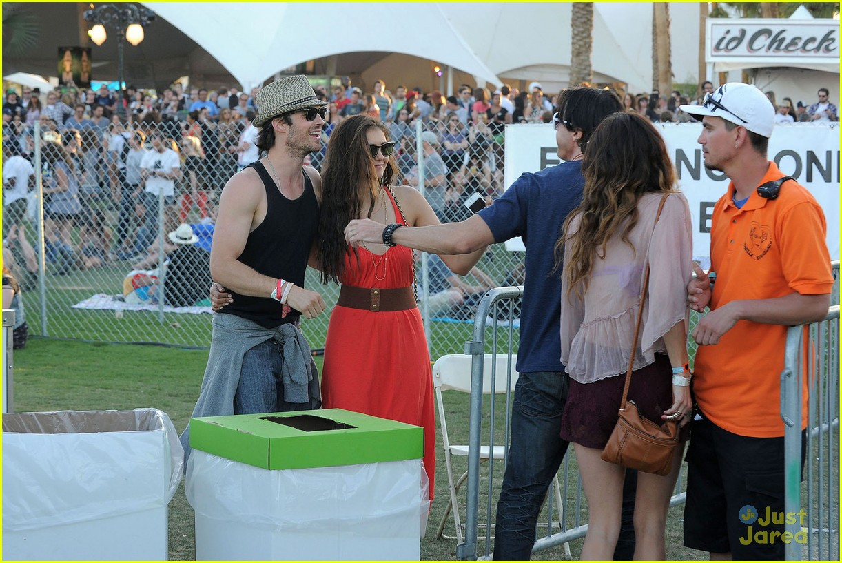 nina dobrev ian somerhalder red dress 11