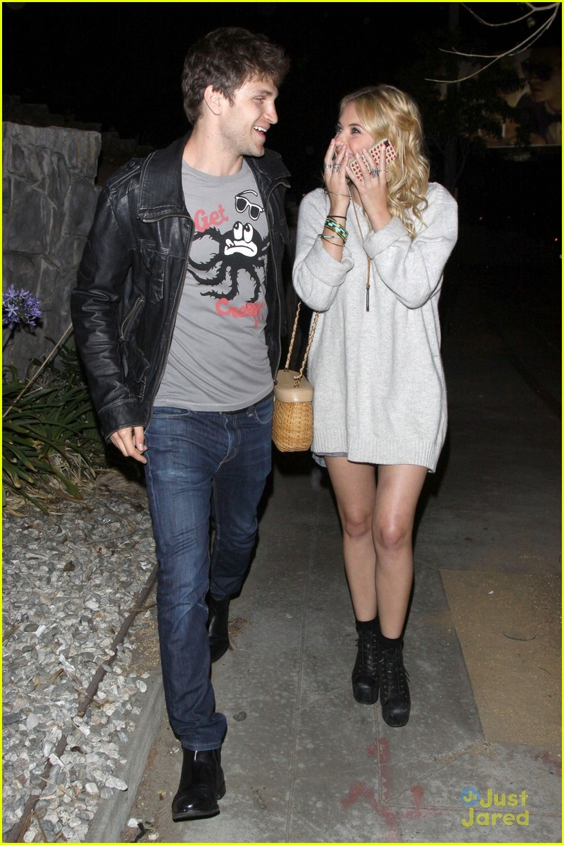 This Photo Set  Ashley Benson gets the giggles as she and Keegan Allen    Ashley Benson And Keegan Allen