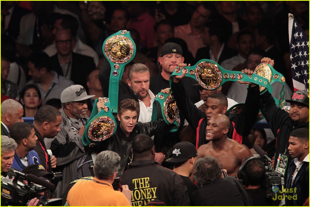 justin bieber floyd mayweather fight 10