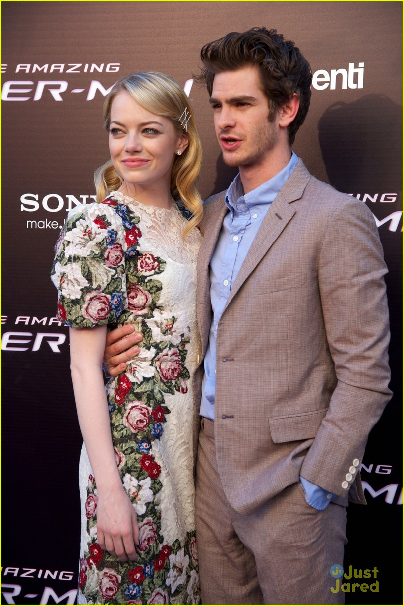 emma stone andrew garfield madrid 26