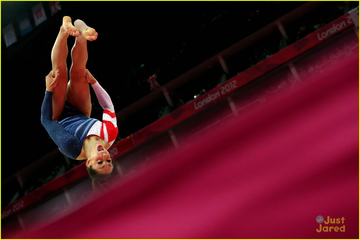 Aly Raisman Gold Medal On The Floor At 2012 Olympics