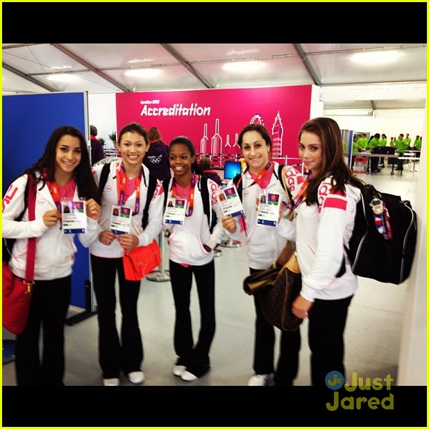 gymnasts olympic village today show 02