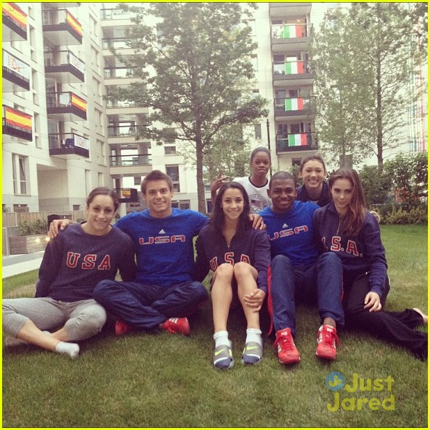 gymnasts olympic village today show 11