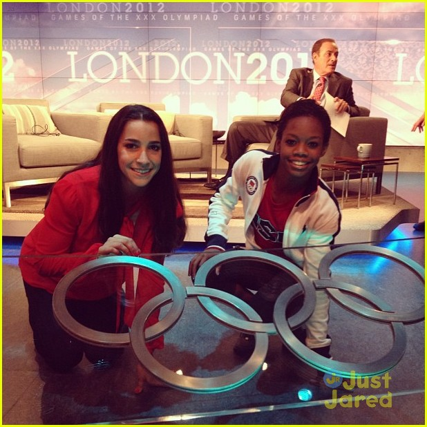 gymnasts olympic village today show 15