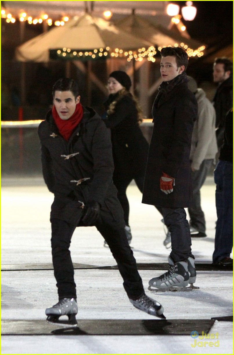 chris colfer darren criss ice skating 04