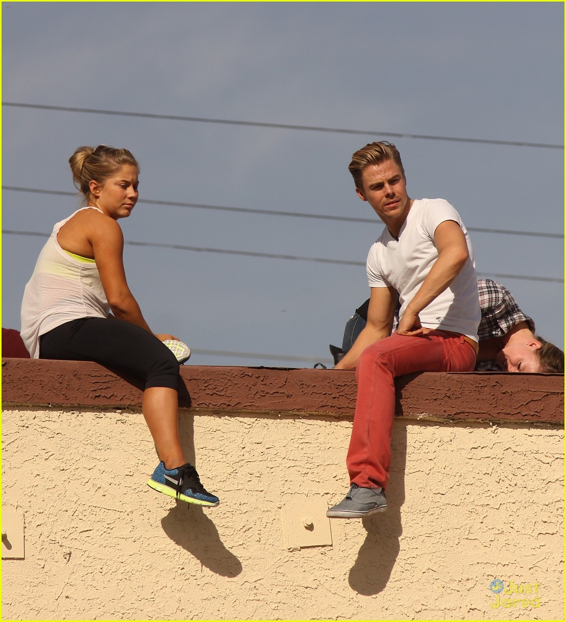 shawn johnson rooftop derek hough 08
