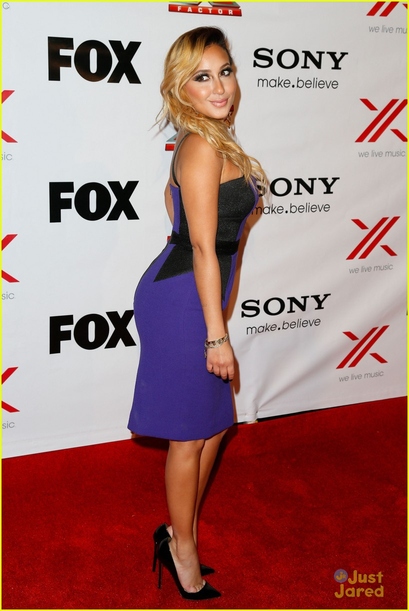 adrienne bailon giving awards xfactor viewing party 08