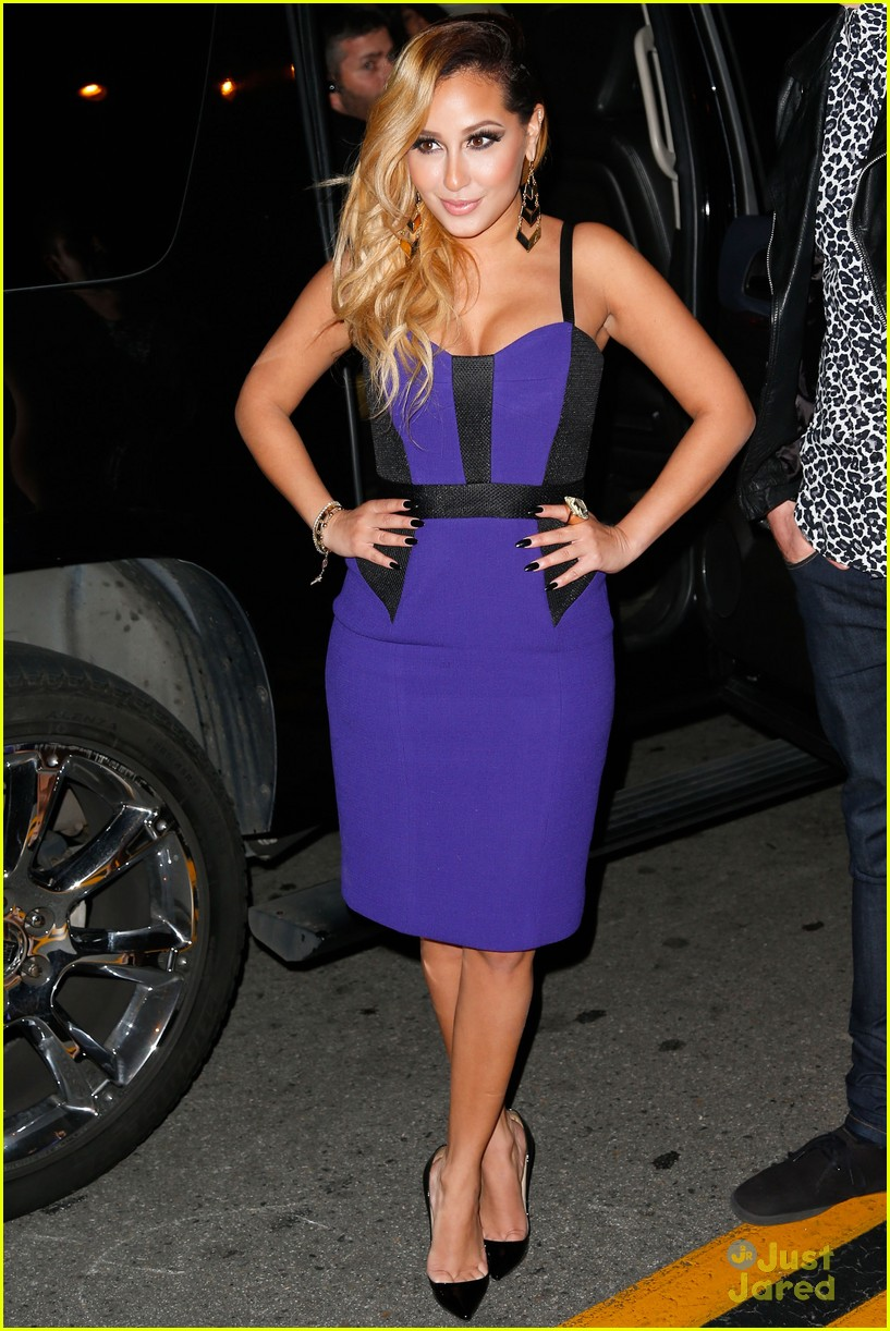 adrienne bailon giving awards xfactor viewing party 11