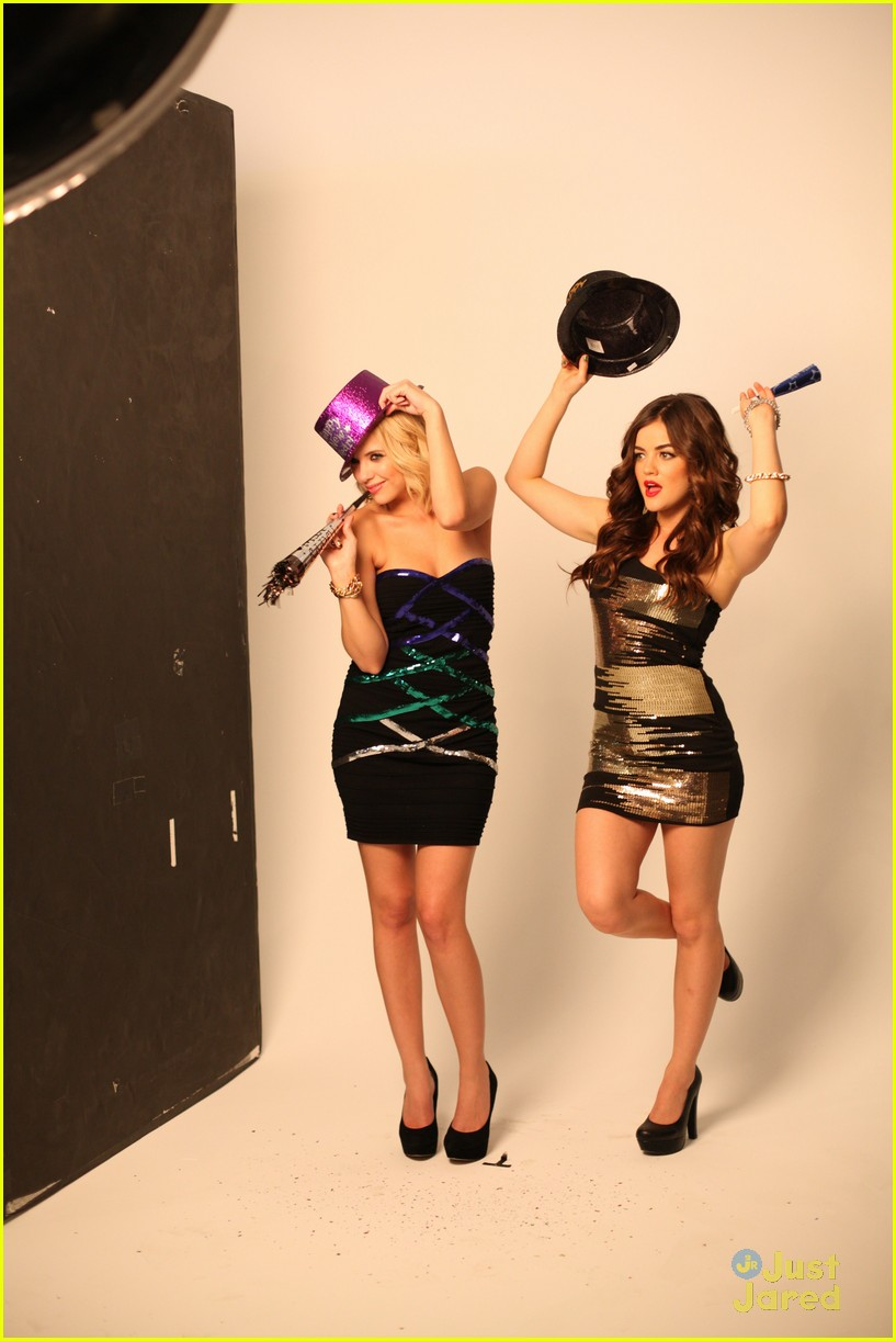 lucy hale ashley benson holiday bongo 05