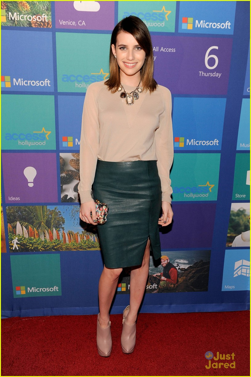 emma roberts microsoft allaccess party 01