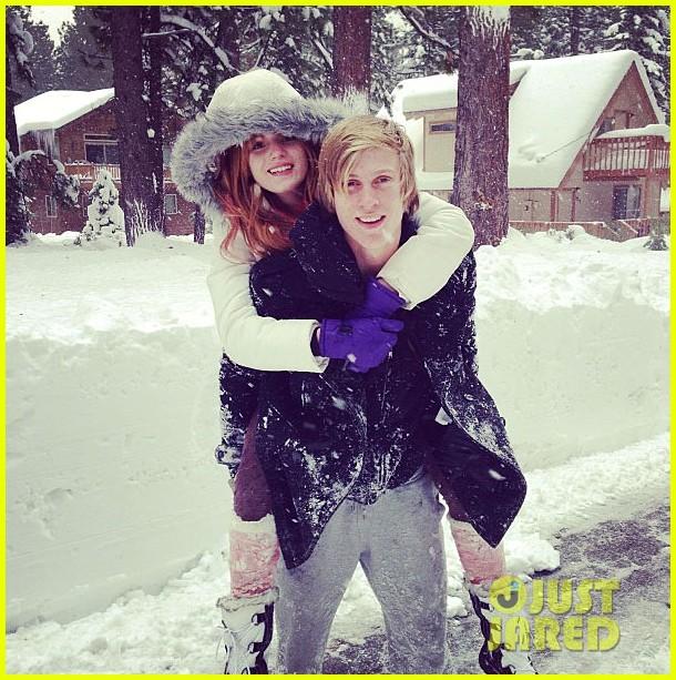 bella thorne snowy piggyback ride tristan klier 01