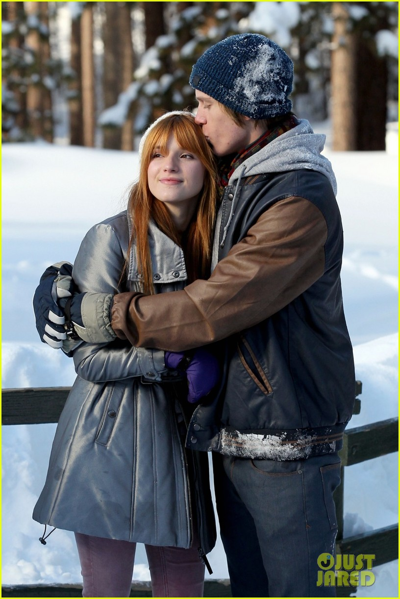bella thorne snow tubing 06