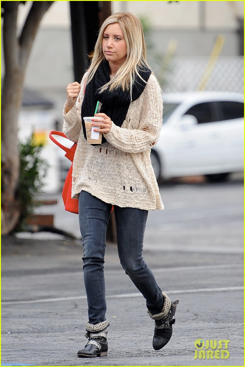 ashley tisdale starbucks studio city 20