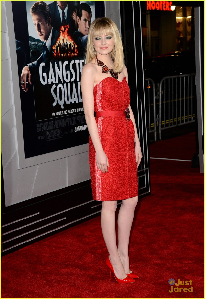 emma stone gangster premiere 01