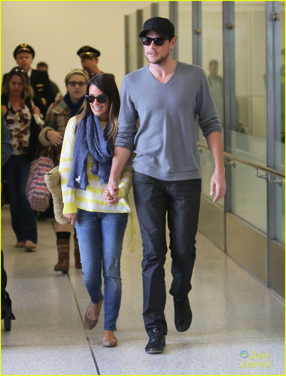 lea michele cory monteith lax 01