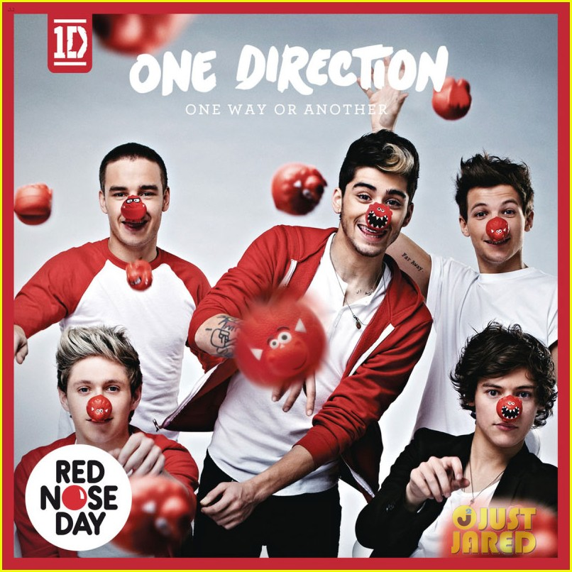 one direction red nose day album cover