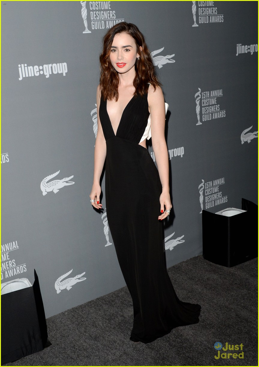 lily collins cdg awards 2013 03