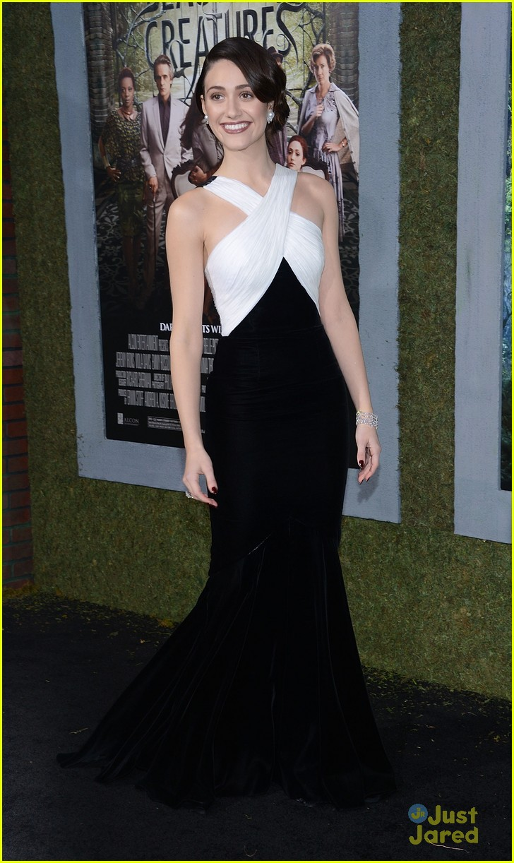Emmy Rossum is stunning as she arrives on the carpet at the Beautiful    Emmy Rossum 2013 Beautiful Creatures