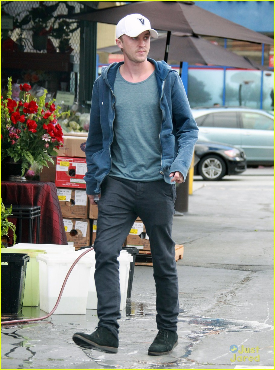 tom felton white cap 01