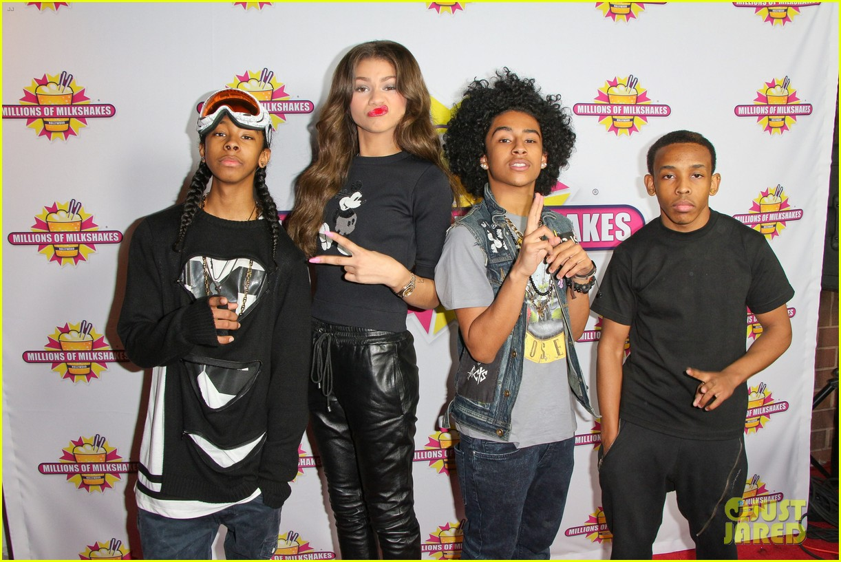 mindless behavior at millions of milkshakes 17 Zendaya Family