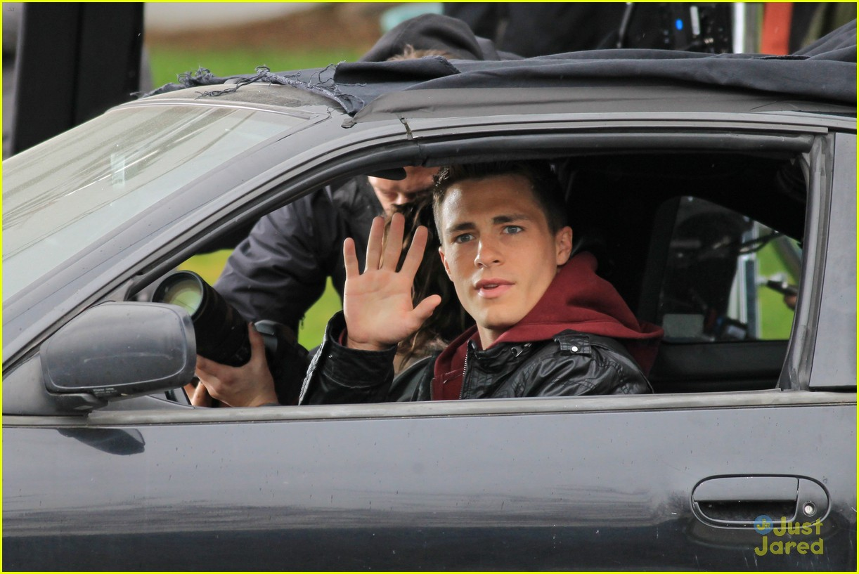 photo of Colton Haynes  - car