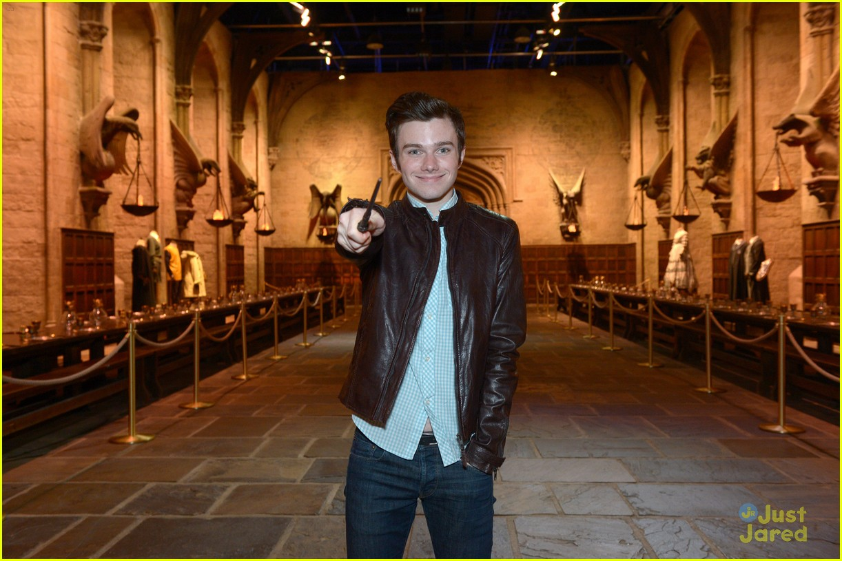 chris colfer hp studio tour london 16
