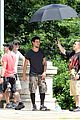Tay-jump taylor lautner bike riding for tracers filming in nyc 09