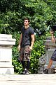 Tay-jump taylor lautner bike riding for tracers filming in nyc 16