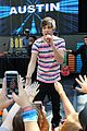 Austin-mall austin mahone ed sheeran bridgit mendler join nyc family day event 01