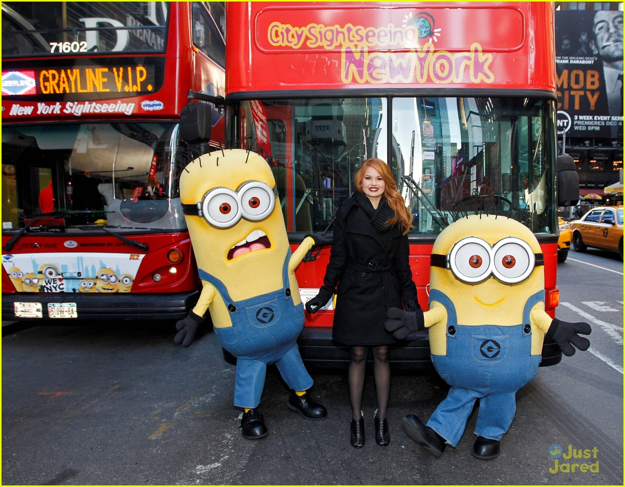debby ryan minions decker bus nyc 02