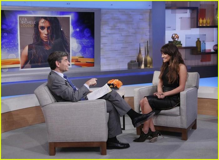 Good Morning America Intruder Interview : Lea michele gets louder on good morning america photo