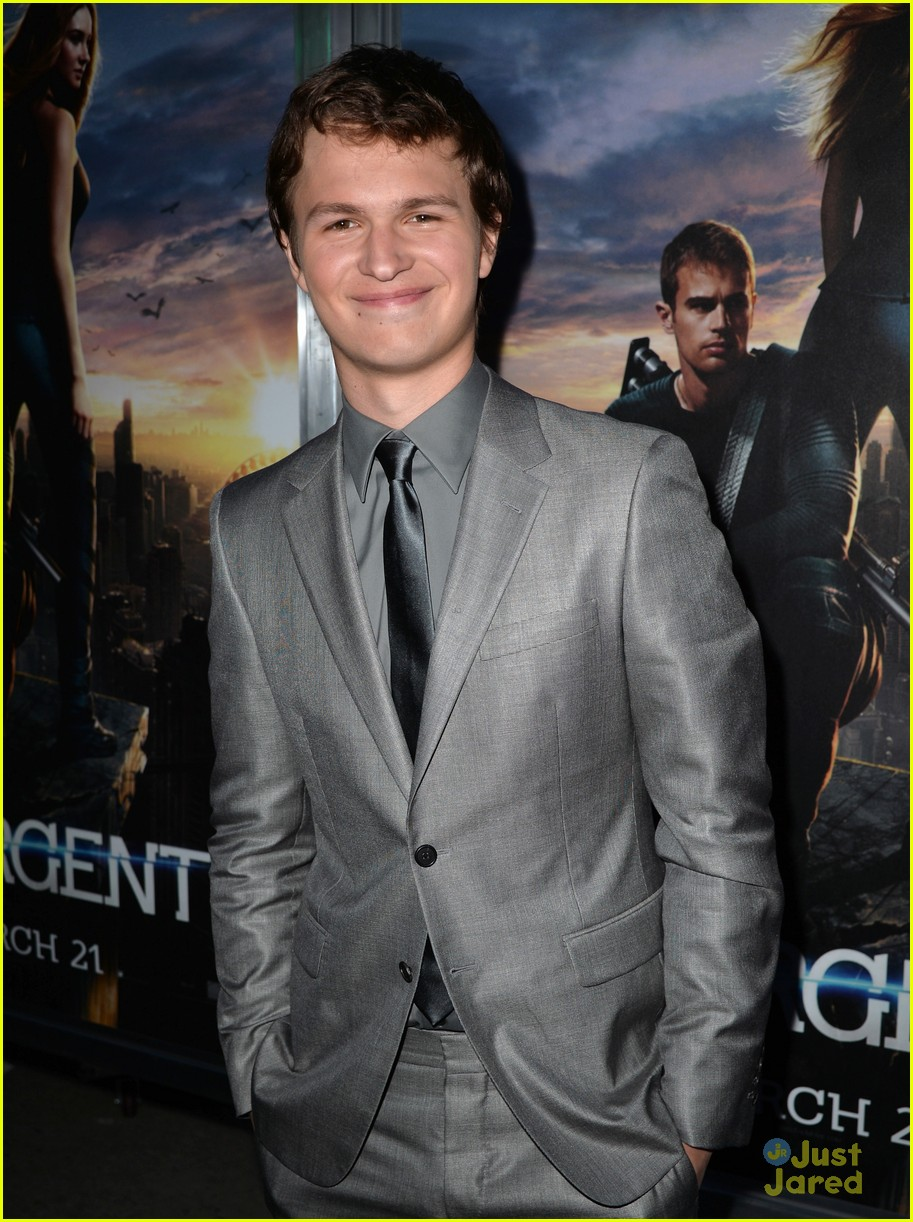 Ansel Elgort at the Divergent premiere in LA
