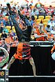 Derulo-soccer jason derulo jumps around at the australian football a league grand final01