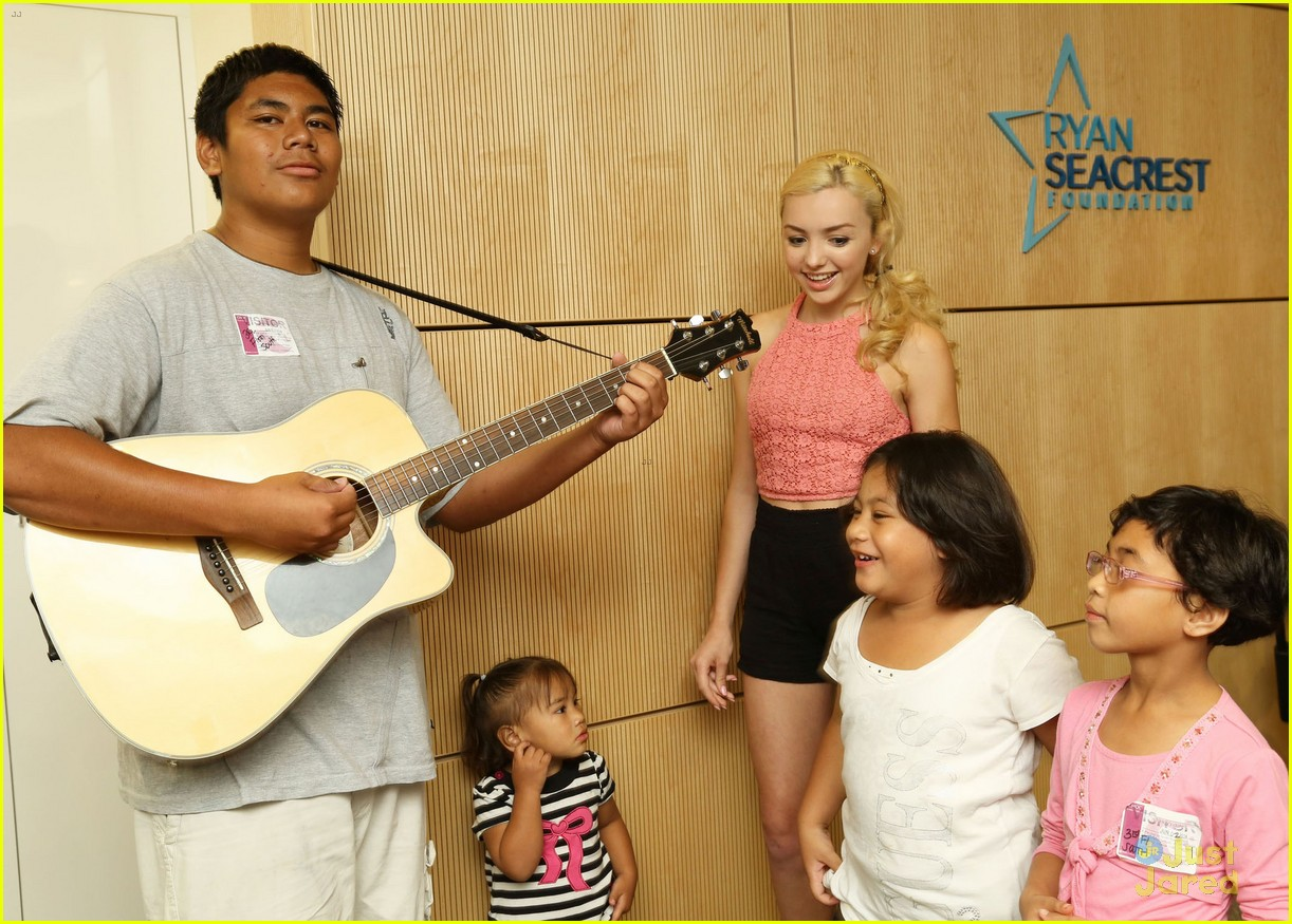 peyton list spends time children seacrest studios 04