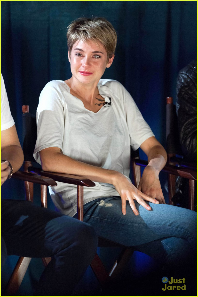 Shailene Woodley Sheds a Tear at 'Fault in Our Stars ...