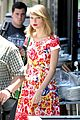 Swift-rosy taylor swift wildflower dress young fans nyc 22