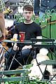 Dan-dog daniel radcliffe dog walker trainwreck nyc set 23