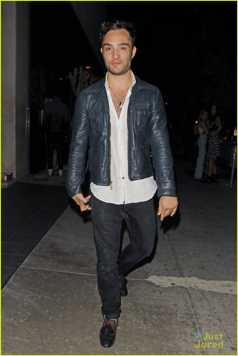 Full Sized Photo of ed westwick shows off some chest at ... Ed Westwick