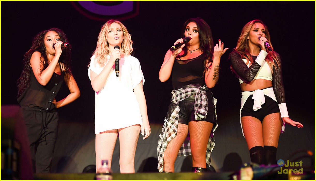 little mix sing leighanne pinnock a birthday song at big
