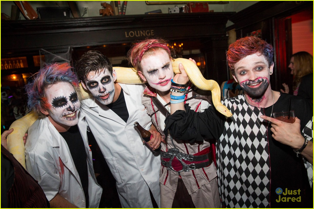 The Vamps Go All Out for Halloween at Just Jared's Freak Show ...